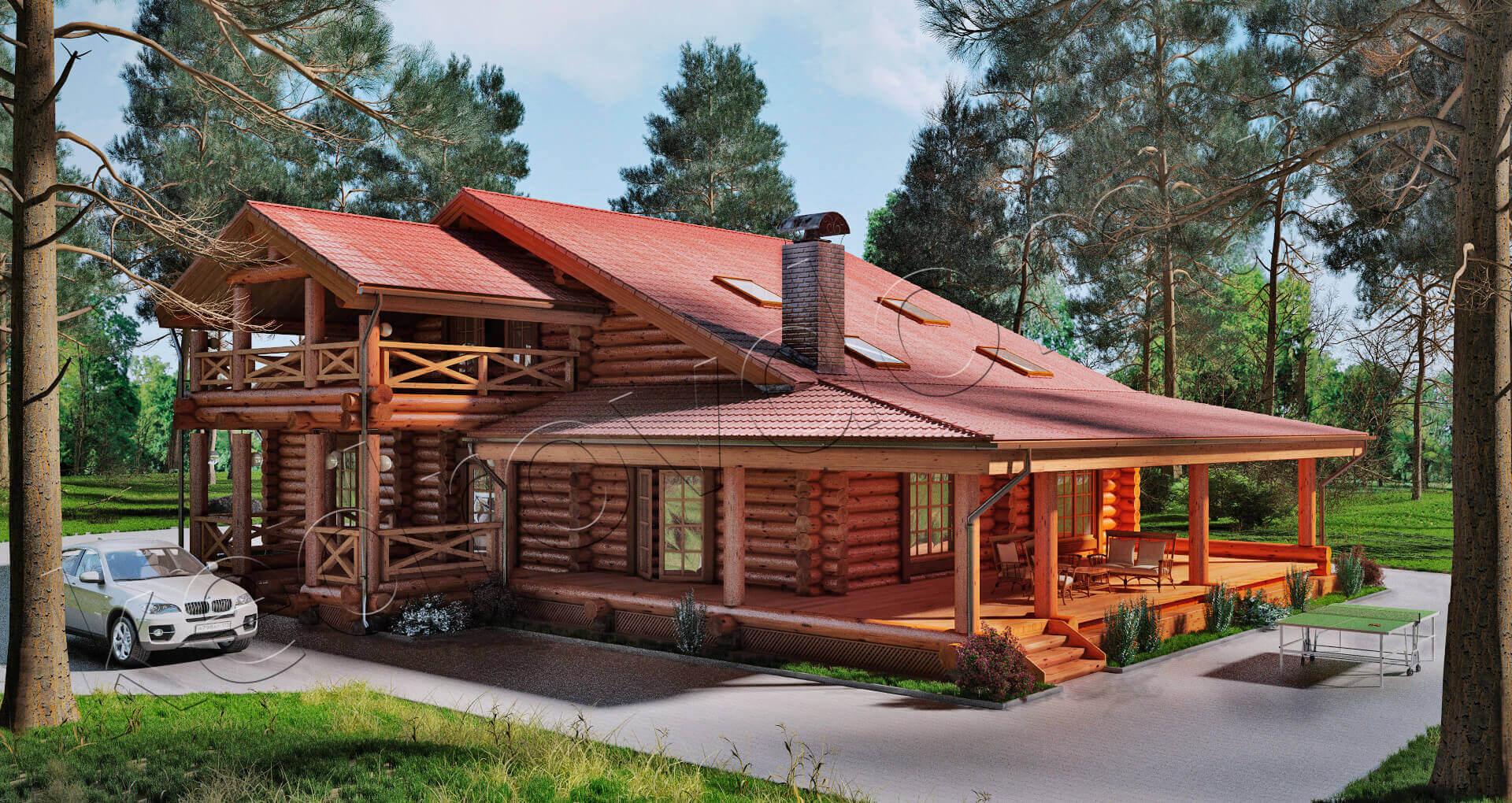 деревянный дом с бревенчатой верандой фото приходили