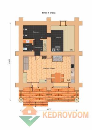 Plan 1 Etazha Tajga